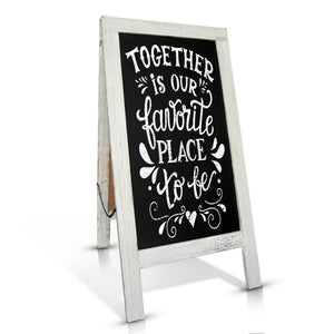 White-Washed Rustic Welcome Wedding Sign Chalkboard - Vintage by Kaimi