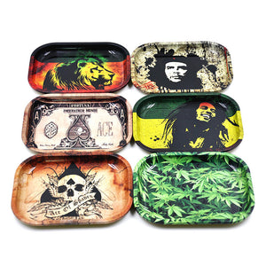 New 1pcs Metal Tobacco Rolling Tray 17cm*13cm*1.8cm - POP Smoking