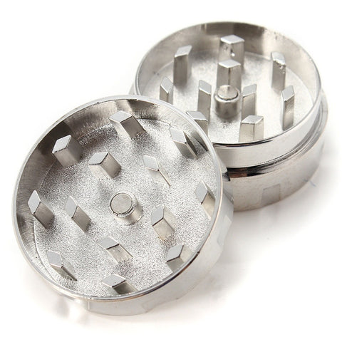 2 Part Mini Alloy Cigarette Tobacco Herb Weed Grinder Crusher Pollen Muller - POP Smoking