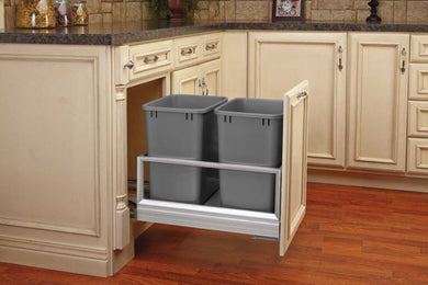 Rev-A-Shelf Double Basin Bottom Mount Waste Pullout