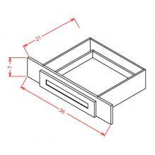 Shaker Dove- Vanity Knee Drawer