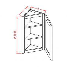 Shaker Cinder- Angle Wall Cabinet