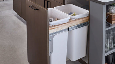Rev-A-Shelf Double Basin Waste Pullout