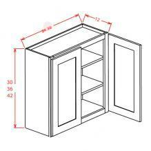 Tahoe Dove- Open Frame Wall Cabinet- Double Door