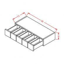 Shaker Grey- Wall Spice Drawer