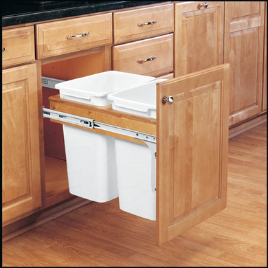 Rev-A-Shelf Single Basin Waste Pullout