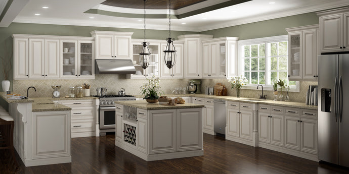 Charleston Antique White 10X10 Kitchen