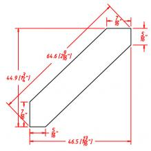 Shaker Espresso- Angle Crown Moulding - ACM8