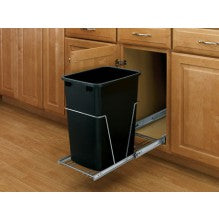 Rev-A-Shelf single Basin Waste Pullout with door mount kit