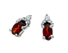 Garnet Earrings 10KW Gold 128546 - Marc Richards Jewelry