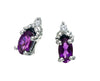 Amethyst Earrings 10KW Gold 128547 - Marc Richards Jewelry