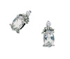 White Topaz Earrings 10KW Gold 128549 - Marc Richards Jewelry