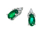 Emerald Earrings 10KW Gold 128550 - Marc Richards Jewelry