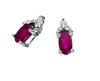 Ruby Earrings 10KW Gold 128551 - Marc Richards Jewelry