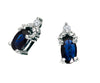 Blue Sapphire Earrings 10KW Gold 128553 - Marc Richards Jewelry