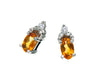 Citrine Earrings 10KW Gold 128555 - Marc Richards Jewelry