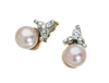 Pearl Earrings 10KW Gold 128557 - Marc Richards Jewelry