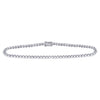 10kt White Gold Womens Round Diamond Studded Tennis Bracelet 1.00 Cttw