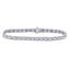 10kt White Gold Womens Round Diamond Studded Tennis Bracelet 3/4 Cttw