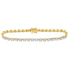 14kt Yellow Gold Womens Round Diamond Cluster Tennis Bracelet 1-7/8 Cttw