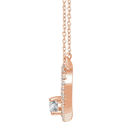 14K Two-Stone Bar Necklace - Marc Richards Jewelry