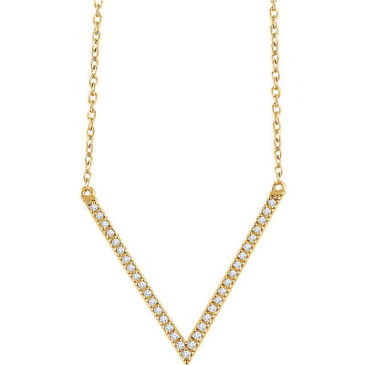 "14K ""V"" Necklace - Marc Richards Jewelry"