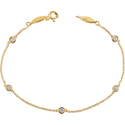 14K Bezel Set Station Bracelet - Marc Richards Jewelry
