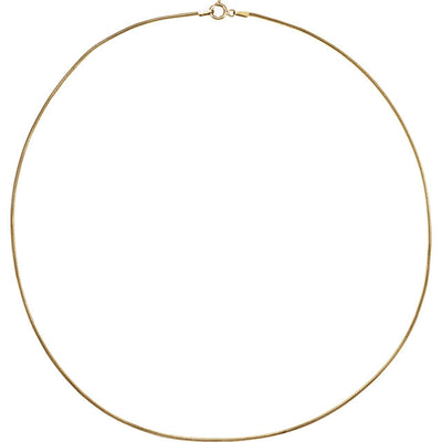 14K Gold 1mm Solid Snake Chain