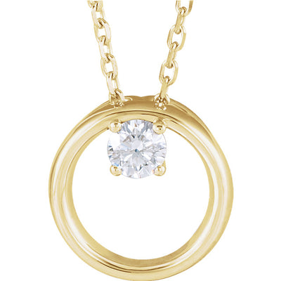14K Diamond Circle Necklace - Marc Richards Jewelry
