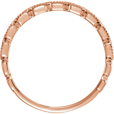 14K Milgrain Stackable Ring - Marc Richards Jewelry