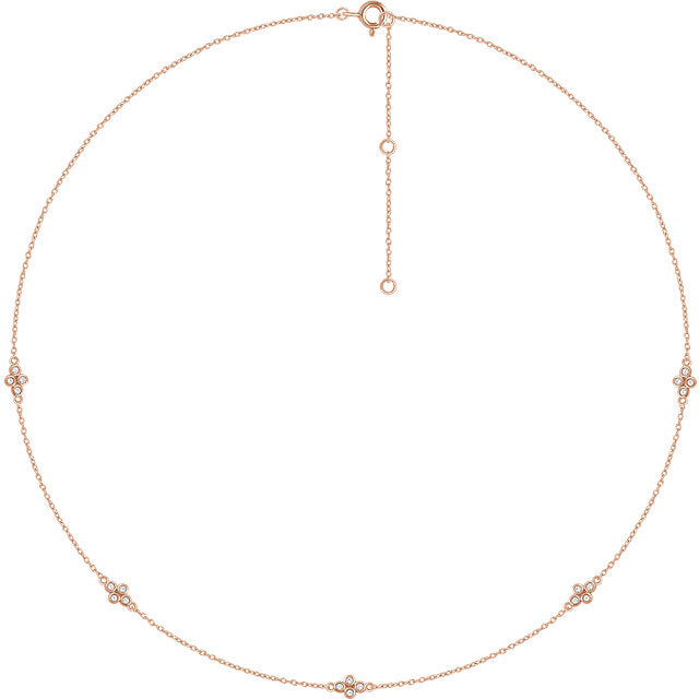 14K Accented Station Necklace - Marc Richards Jewelry