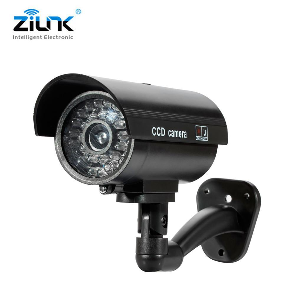 Home Security Dummy Camera Red Led Flash Simulated Camera Indoor Surveillance Security Fack Dome Camera With Flashing Led Light Security & Protection