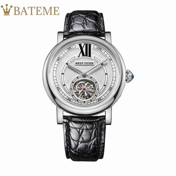 black-strap-white-dial-silver-case