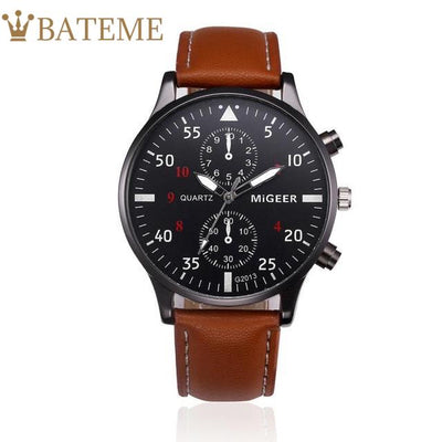 Bomber B-52 Men's Leather Watch