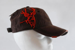 Brown Raised Elk Hat