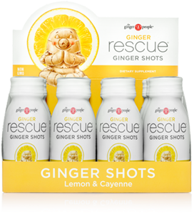 Ginger Rescue® Ginger Shots Lemon & Cayenne - 12 Pack Caddy - FREE SHIPPING