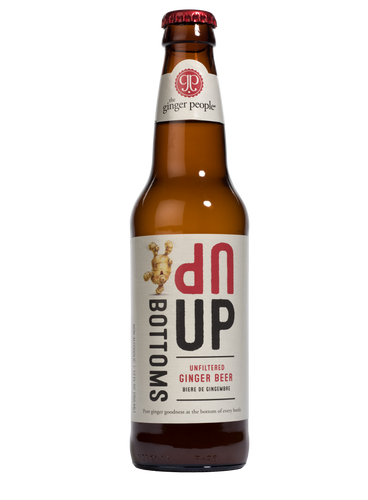 LIMITED TIME ONLY Bottoms Up Original Ginger Beer, 12 oz, case of 24.