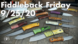 Fiddleback Friday 9/25/20 - Video Preview