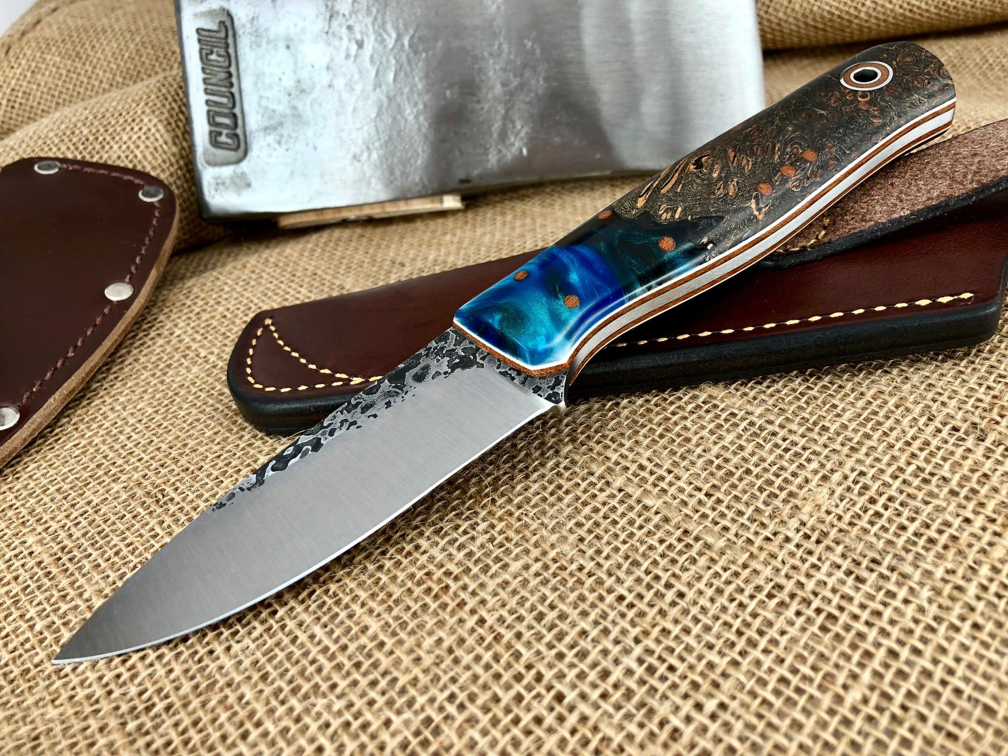 Fiddleback Forge Knives by Andy Roy