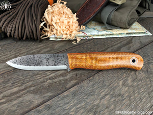 Fiddleback Forge Arete - Paper Bag Burlatex - SCANDI - Fiddleback Forge Handmade Knife