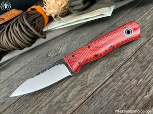 Fiddleback Forge Bear Cub - Fire Dog Micarta - Fiddleback Forge Handmade Knife