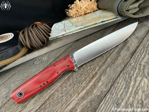 Fiddleback Forge Boning - CPM 154 - Fire Dog Micarta - Fiddleback Forge Handmade Knife