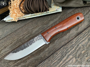 Fiddleback Forge Buffalo Bill - Cross Cut Canvas Micarta