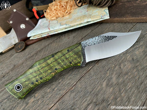 Fiddleback Forge Bullfrog Bowie - Emerald Curly Ash