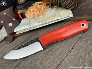 Fiddleback Forge Bush Hermit - 8670 - Burnt Orange Micarta