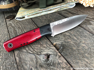Fiddleback Forge Bush Hermit - Ruby Burlap - Fiddleback Forge Handmade Knife