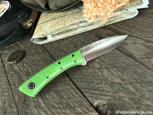 Fiddleback Forge Bushboot - Lime Burlatex - Fiddleback Forge Handmade Knife