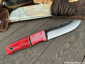 Fiddleback Forge Bushcrafter Sr. - 8670 - Fire Dog Micarta