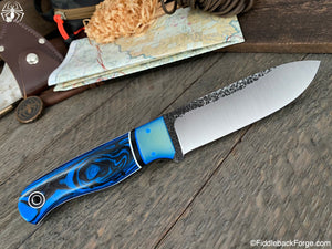 Fiddleback Forge Bushcrafter Sr. - 8670 - Black/Blue G-10