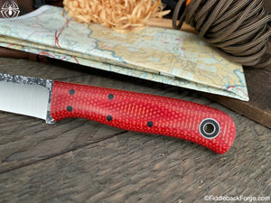 Fiddleback Forge Bushraptor - Fire Dog Micarta